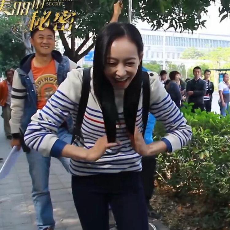 美丽的秘密姜美丽宋茜同款条纹时尚韩版女士毛衣针织衫