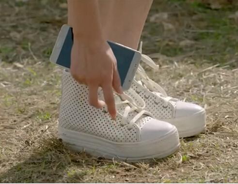 太阳的后裔宋慧乔同款白色网面休闲高帮女鞋