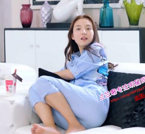 我的奇妙男友吴倩田净植沈梦晨同款蓝色米奇短袖休闲连体裤品牌