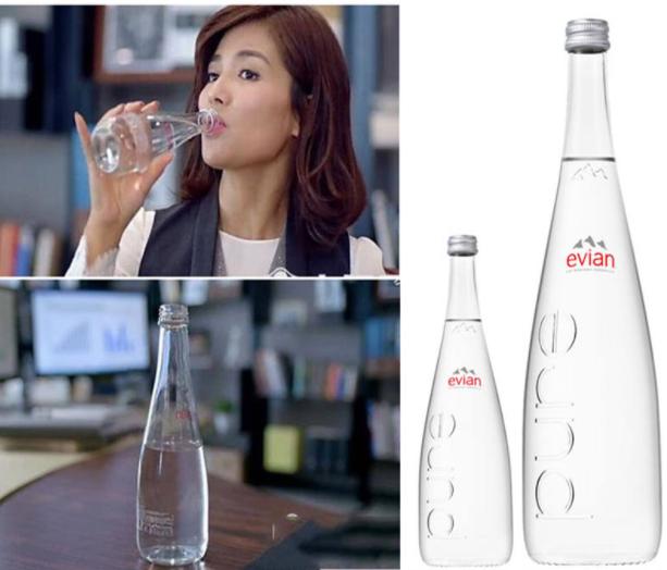 欢乐颂2刘涛安迪同款法国依云矿泉水单瓶