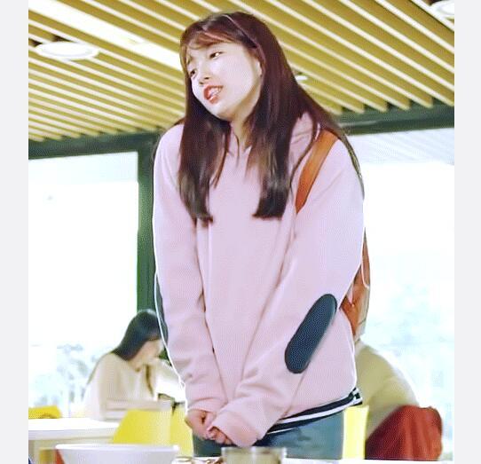 当你沉睡时裴秀智同款粉色韩版套头卫衣宽松上衣外套
