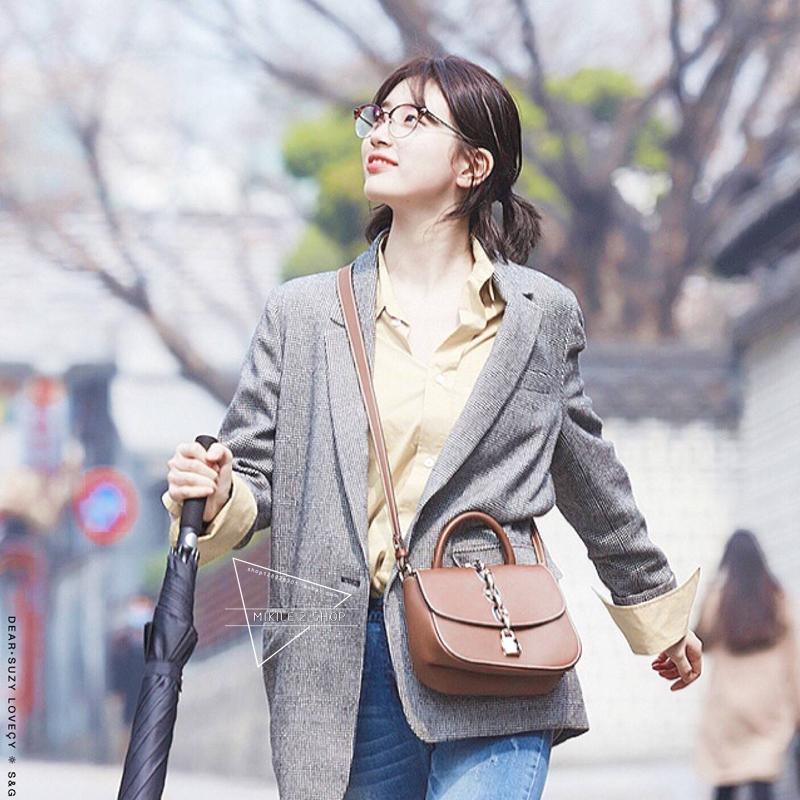 当你沉睡时裴秀智南红珠韩国明星同款格子小西装女外套