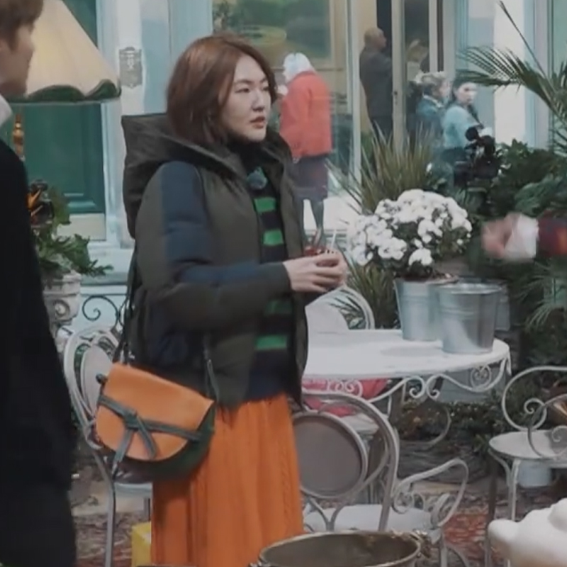 小姐姐的花店小S徐熙娣宋佳同款宽松条纹毛衣女撞色半高领针织衫
