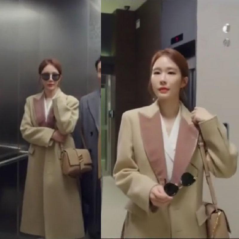 韩剧触及真心刘仁娜同款大衣韩版气质毛呢外套