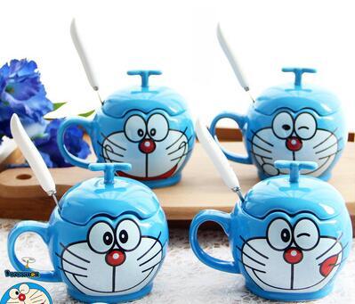 致我们暖暖的小时光邢菲司徒末同款水杯哆啦A梦叮当猫陶瓷马克杯