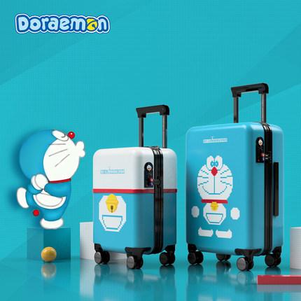 致我们暖暖的小时光司徒末同款哆啦A梦旅行箱ins网红拉杆箱行李箱