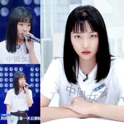青春有你2陈珏同款中国女孩短袖t恤女宽松反光情侣装学生团队班服