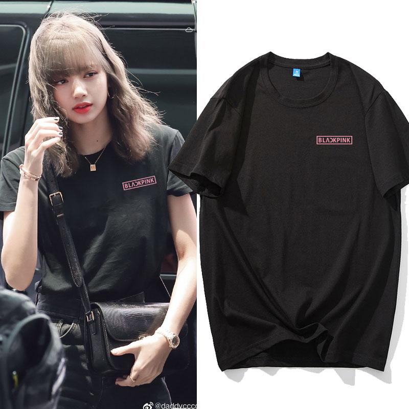 青春有你2lisa同款BLACKPINK金智妮JENNIE短袖T恤