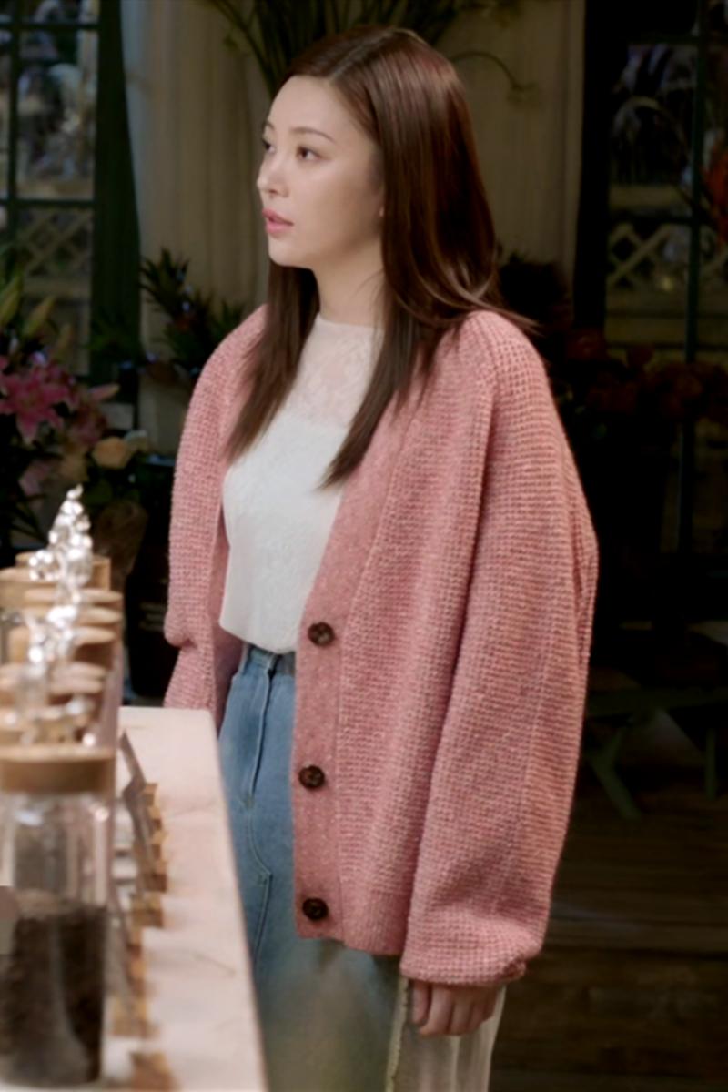 最初的相遇最后的别离方妮娅林澄明星同款衣服女秋季休闲针织开衫