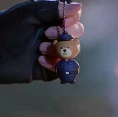 你是我的城池营垒白敬亭同款制服小熊钥匙扣