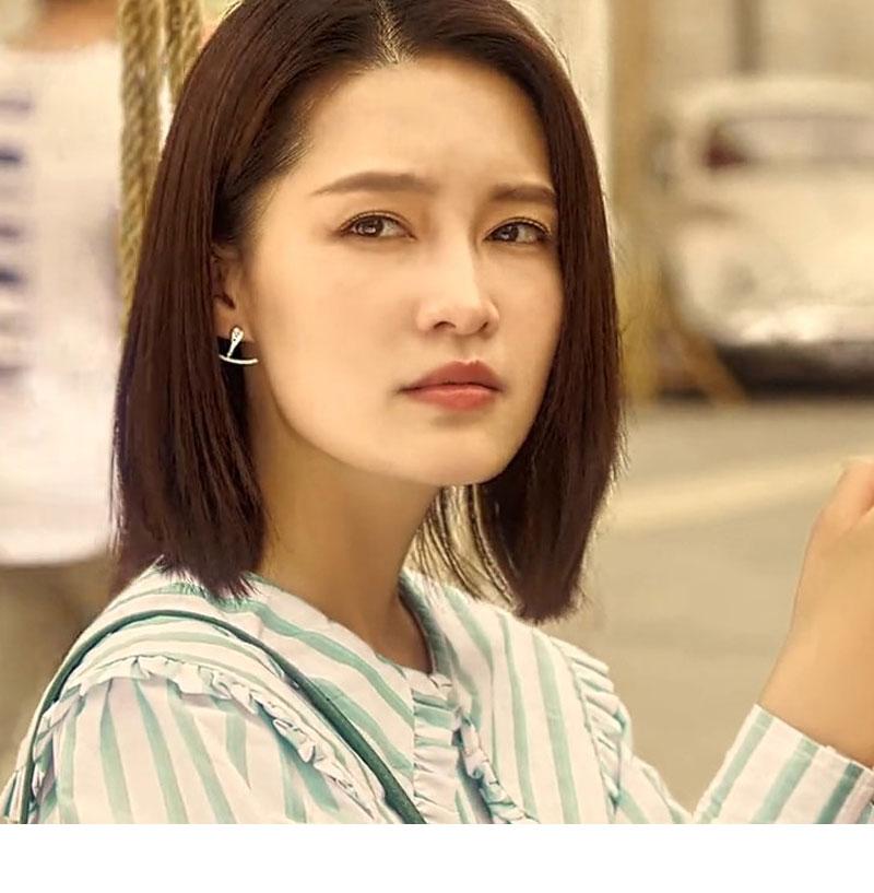 爱上特种兵夏初李沁同款耳环2021年新款潮小众设计感女夏季耳钉
